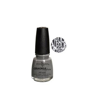 CHINA GLAZE CRACLE GLAZE, ЦВЕТ №81052 CRACKED CONCRETE (СЕРЫЙ)