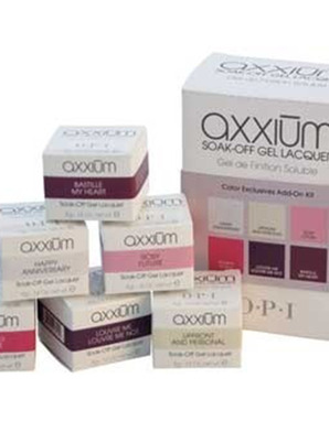 OPI AXXIUM, SOAK-OFF COLOR EXCLUSIVES ADD-ON KIT