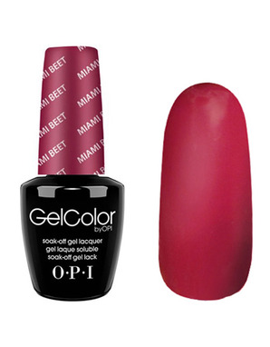 OPI GELCOLOR, ЦВЕТ MIAMI BEET B78