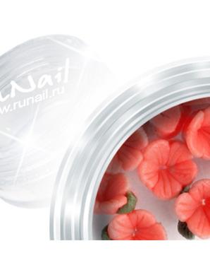 RUNAIL, ДИЗАЙН ДЛЯ НОГТЕЙ: ПЛАСТИКОВЫЕ ЦВЕТЫ (3D FLOWER B) 3DSB007  В ПЛАСТИКОВОЙ БАНКЕ